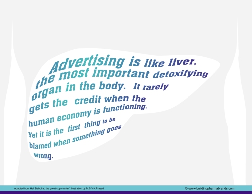 Advertising is like liver