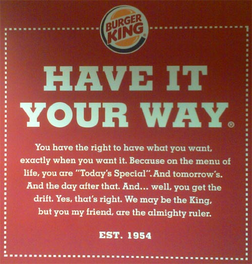 burger king positioning statement 19032012  it's too crowded --yogi berra actually for burger king,  how to build a brand positioning statement that will help you win in the market.