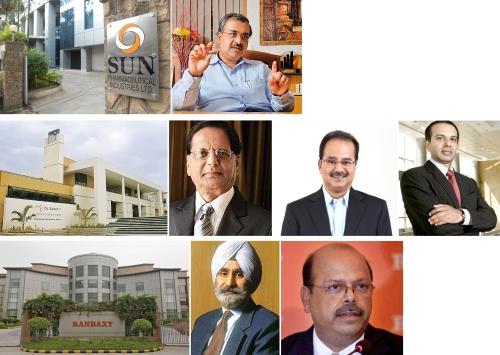 Dilip Shanghvi, Late Dr. K. Anji Reddy, G. V. Prasad, K. Satish Reddy, Late Dr. Parvinder Singh, Arun Sawhney