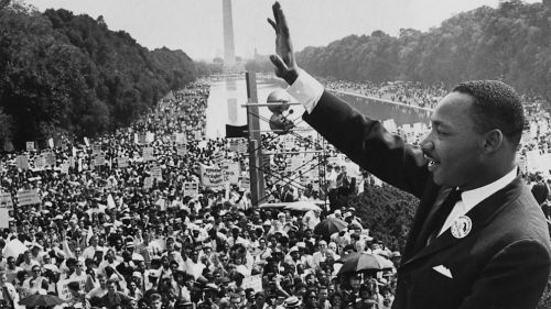 Martin Luther King, Jr. Delivering I Have A Dream Speech at the Lincoln Memorial, Washington D D.C. on August 28, 1963